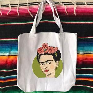 "Handbags - Handmade Frida Kahlo Tote 12 1/2""x13"""